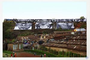 Women Are Heroes - In Kibera Slum, train passage